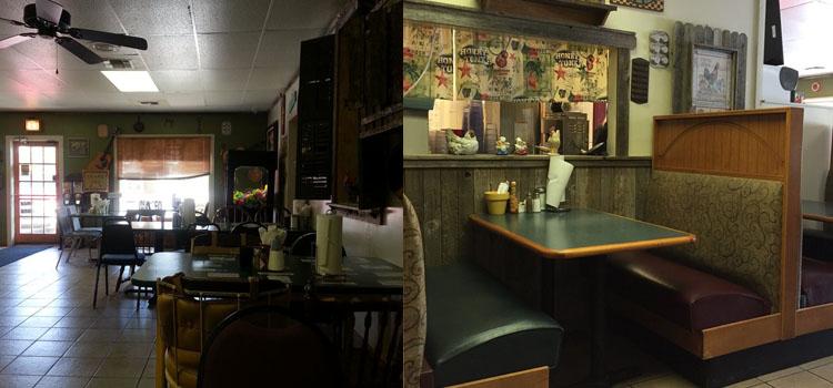 Restaurants inside view